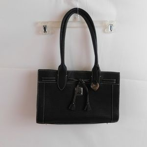 Dooney Bourke Purse Handbag Large Black Cover Bag